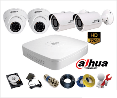 Lắp đặt camera HD Dahua 1.0 MP