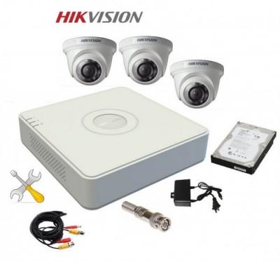 Trọn Bộ 3 Camera HIKVISION Độ Nét HD 1.0 MP