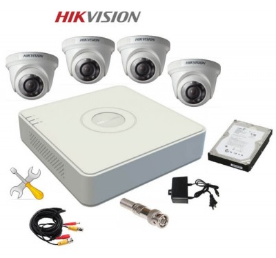 Trọn Bộ 4 Camera HIKVISION Độ Nét HD 1.0 MP