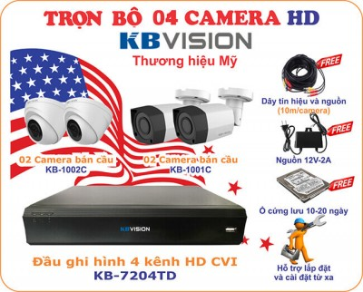 Lắp đặt camera KBvision 2.0 Megapixel