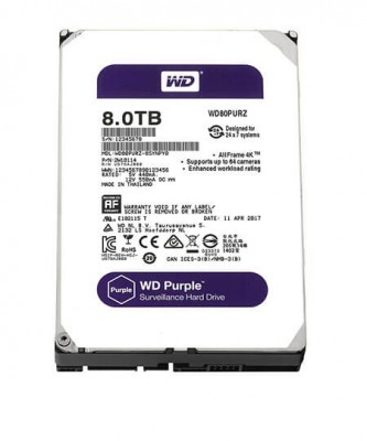 Ổ cứng Western tím WD Purple 8TB WD80PURZ