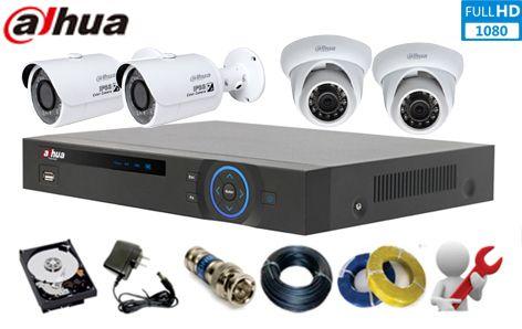 Lắp đặt camera Full HD Dahua 2.0 MP